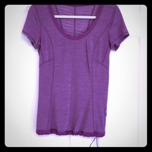 Lululemon workout top purple size 6